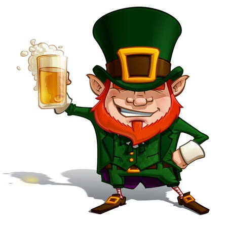 St  Patrick  Cheers  Stock Vector - 18782614