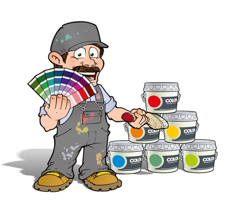 Handyman - Colour Picking Painter - Gray Stock Photo - 19981609