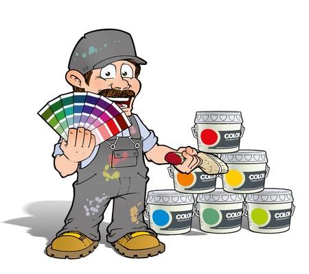 Handyman - Colour Picking Painter - Gray Stock Photo - 19981609