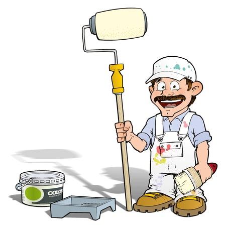 happy house: Handyman - Paint Roll Painter White