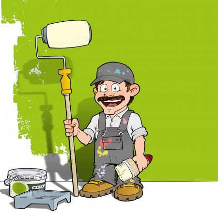 Handyman - Wall Painter Gray photo