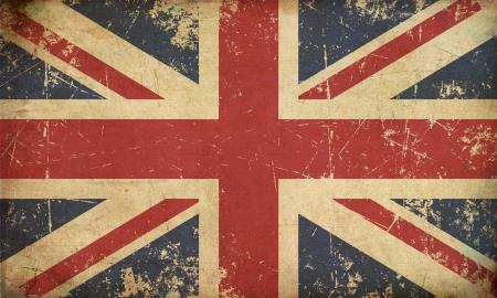 Illustratie van een roestige, grunge, oude Britse vlag Stockfoto