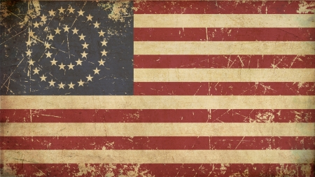 civil war: Illustration of an rusty, grunge, aged American civil war Union  North  flag