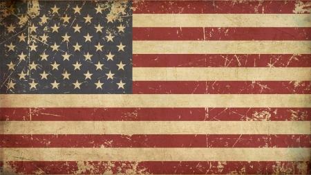 bandera: Ilustración de un grunge bandera americana edad oxidado,