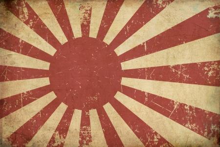 Illustratie van een roestige, grunge, oud Japans Empireal Navy vlag