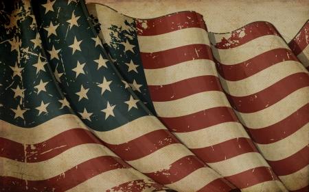 Illustrazione ofan invecchiato, sventolando bandiera USA 48 stelle del periodo 1912-1959 stampato in carta vecchia Questo disegno è stato utilizzato dagli Stati Uniti in entrambe le guerre mondiali e la guerra di Corea Archivio Fotografico - 21618438