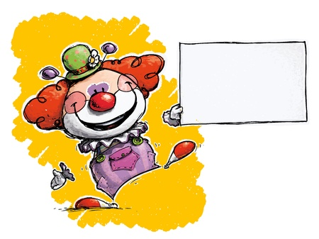 Cartoon artistic illustration of a clown holding business card cartoon artistic illustration of a clown holding business card stock vector 21716744 colourmoves