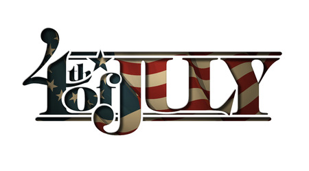 Typographic art cutout with a waving Betsy Ross American flag underneath. The Settle thickness on the cutout border follows the inner shadow's light source.