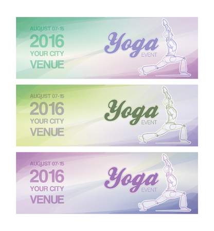 ballpark: Web Banner  mockup for a Yoga event. All elements neatly on layers and Groups. Fonts used: Ballpark & Coolvetica. All fonts are for preview purposes only and are not included.