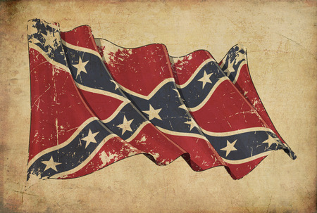 Wallpaper depicting an aged paper, textured background with a scratched illustration of the American Civil War Confederate Rebel flag