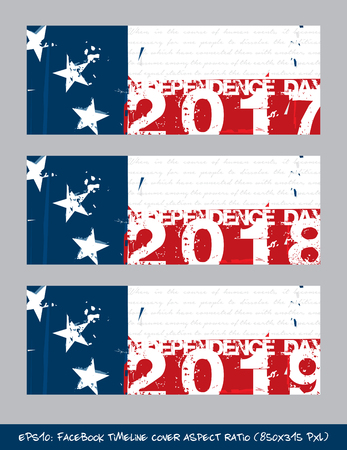 A vector illustration artistic brush strokes and splashes of Betsy Ross Flag Independence day timeline cover with text the first verse from the Declaration of Independence. Illusztráció
