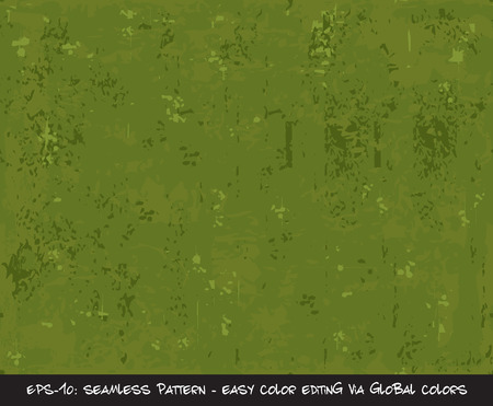 Vector illustration of Green  Camouflage Seamless Pattern.