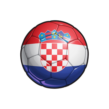 Vector Illustration of a Football – Soccer ball with the Croatian Flag Colors. All elements neatly on well defined Layers Illustration