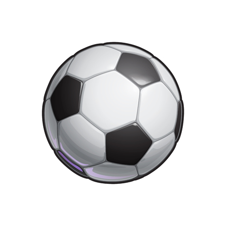 Vector Illustration of a Football – Soccer ball. All elements neatly on well defined Layers