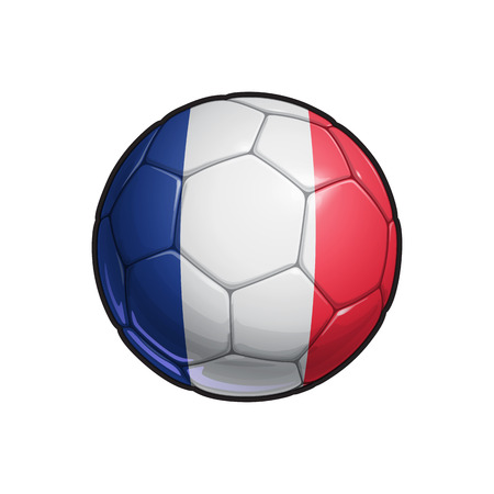 Vector Illustration of a Football – Soccer ball with the French Flag Colors. All elements neatly on well defined Layers Illustration