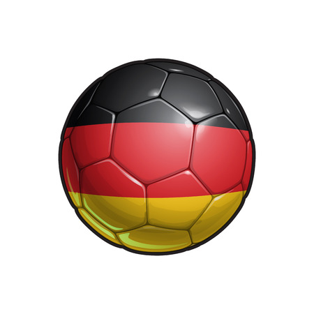 Vector Illustration of a Football – Soccer ball with the German Flag Colors. All elements neatly on well defined Layers