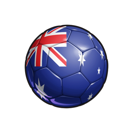 Vector Illustration of a Football – Soccer ball with the Australian Flag Colors. All elements neatly on well defined Layers
