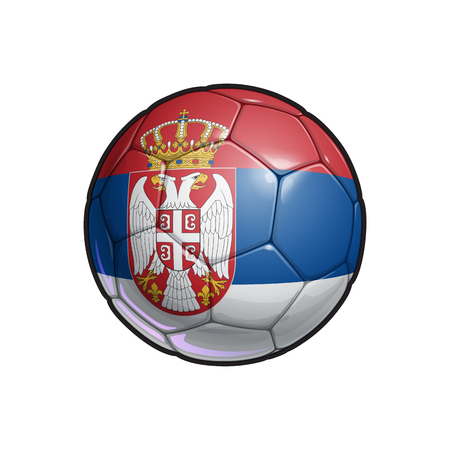 Vector Illustration of a Football – Soccer ball with the Serbian Flag Colors. All elements neatly on well defined Layers Ilustrace
