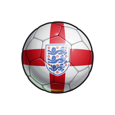 Vector Illustration of a Football – Soccer ball with the English National Team ensign and Flag Colors. All elements neatly on well defined Layers Illustration