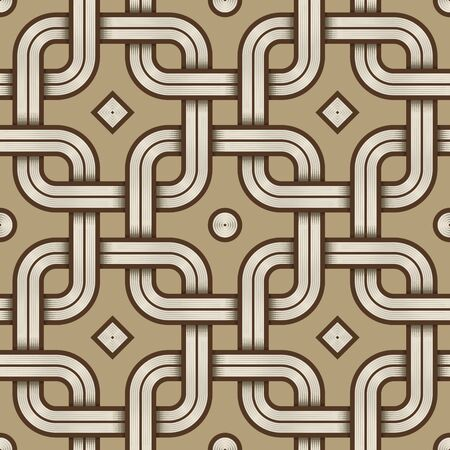Vector Illustration of a Viking Nordic Seamless Pattern - mystic, decorative interweaved Engraved shapes. Lines, engraving and fill color neatly in separate well-defined Layers.