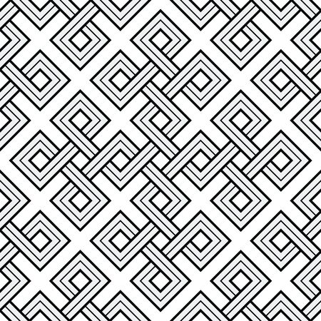 Vector Illustration of a Viking Nordic Seamless Pattern - mystic, decorative interweaved Gold Engraved shapes. Lines, engraving and fill color neatly in separate well-defined Layers. Illusztráció