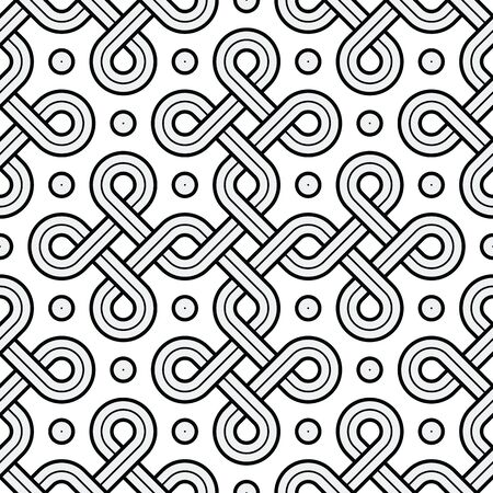 Vector Illustration of a Viking Nordic Seamless Pattern - mystic, decorative interweaved Gold Engraved shapes. Lines, engraving and fill color neatly in separate well-defined Layers. 일러스트