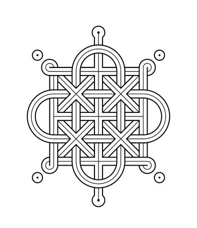 Vector Illustration of a Celtic knot - mystic, decorative symbol with intertwined Gold engraved lines. Lines, engraving and fill color neatly in separate well-defined Layers.