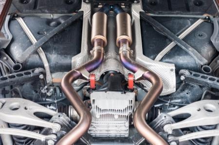 car exhaust silencer polishing muffler perfromance photo
