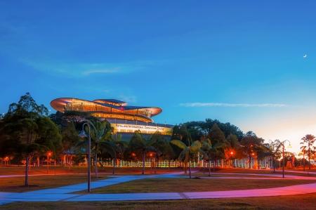 Putrajaya International Convention Centre Skyline at sunset photo