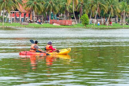 alam: Kayak on lake at Shah Alam Malaysia