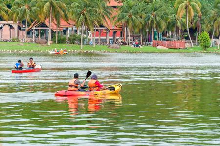 shah: Kayak on lake at Shah Alam Malaysia