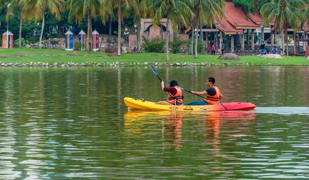 Kayak on lake at, Shah Alam Malaysia