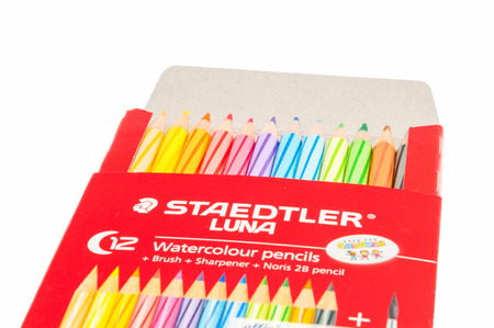 LUNA: Putrajaya, Malaysia - OCT 03 2015 : STAEDTLER Luna Aquarell - Watercolour Pencil is product of STAEDTLER, one of the oldest industrial companies in Germany