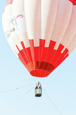 PUTRAJAYA, MALAYSIA - MARCH 12: Colourful hot air balloons at the 8th Putrajaya International Hot Air Balloon Fiesta in Putrajaya, Malaysia on March 12, 2016.