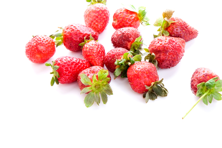 Red Strawberry on white background