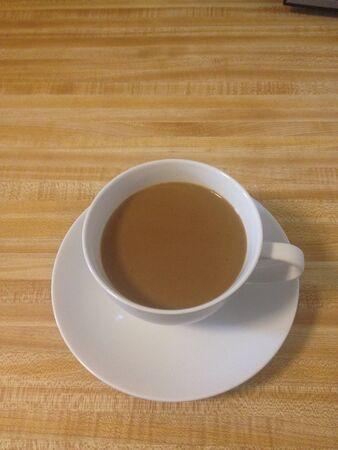 Morning cup of warm coffee 版權商用圖片