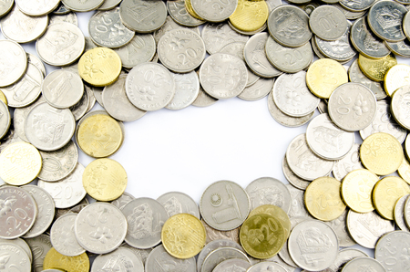pecuniary: image of coins with white background
