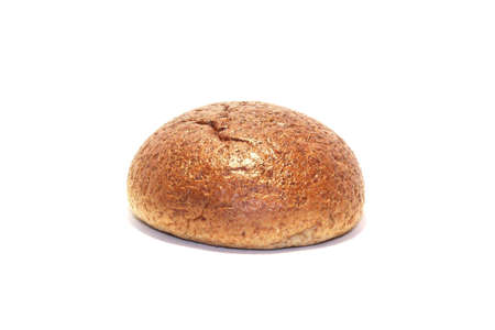 du pain sur fond blanc  Banque d'images