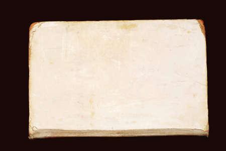 old paper texture sur fond noir Banque d'images