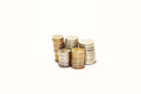 coins on white Stock Photo