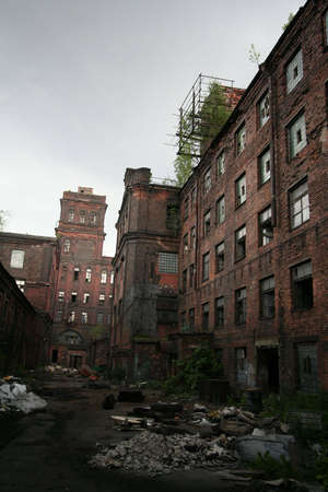 abandoned factory: old factory Stock Photo