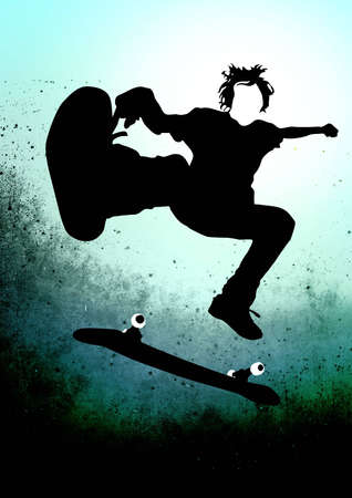 off ramp: Skateboarder