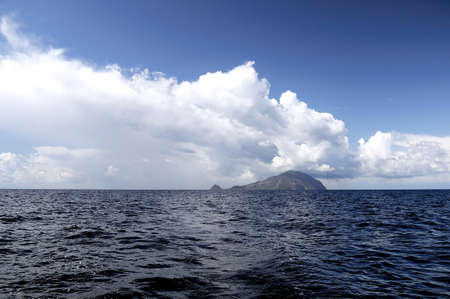 filicudi: Volcanic island and the storm clouds