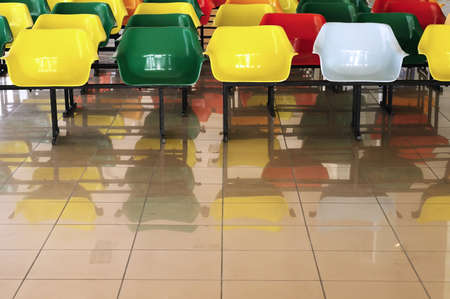 Plastic chairs in the waiting room at the airport Stock Photo - 8360364