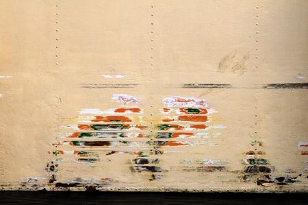 nicked: Pintura raspada  Foto de archivo