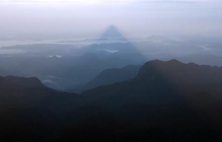 Shadow of the mountain Adams peak, Sri pada photo