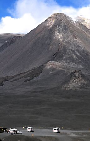 Look at the top of Mount Etna Stock Photo - 13336411
