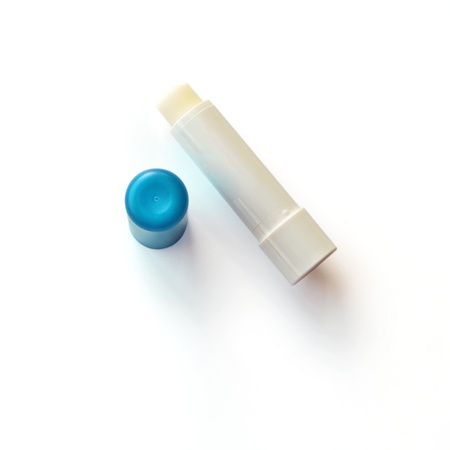 balm: Lip balm on a white background with shadow