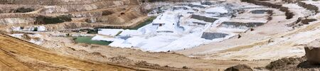 panoramic shot on an open sandy quarry photo