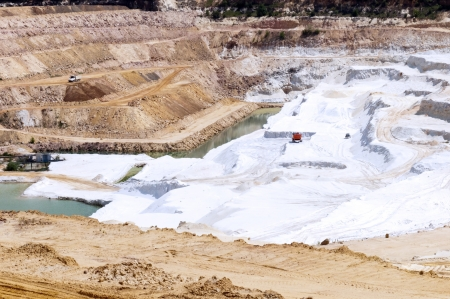 Open sand quarry, where the sand is still mined Stock Photo - 13836876